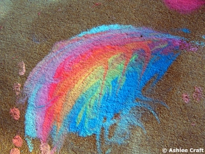 Rainbow Chalk Art